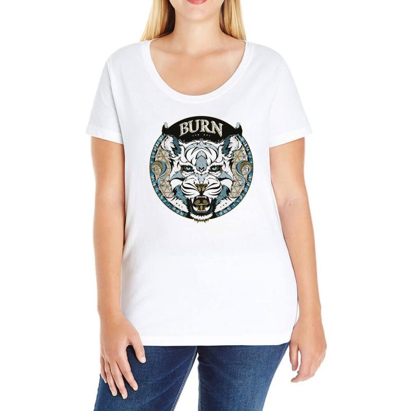 Burn T Shirt Ladies Curvy T-shirt | Artistshot