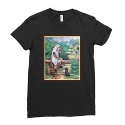 woman in the garden Ladies Fitted T-Shirt | Artistshot