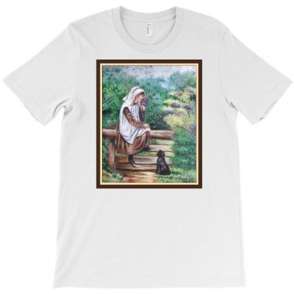 Woman In The Garden T-shirt Designed By Keiart