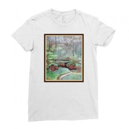 Landscape Ladies Fitted T-shirt Designed By Keiart