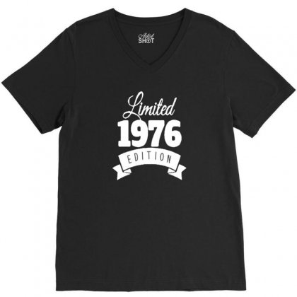 1976 V-neck Tee Designed By Disgus_thing