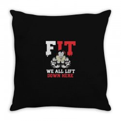 fit we all Throw Pillow | Artistshot
