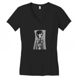 skull woman Women's V-Neck T-Shirt | Artistshot