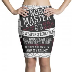 Dungeon Master, The Weaver of Lore & Fate Pencil Skirts | Artistshot