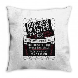 Dungeon Master, The Weaver of Lore & Fate Throw Pillow | Artistshot