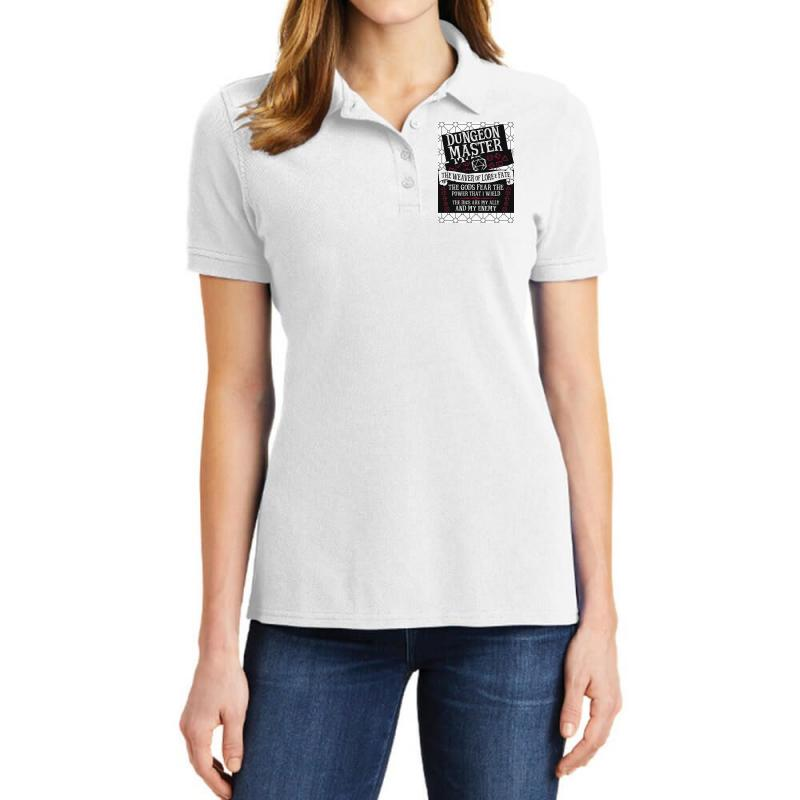 Dungeon Master, The Weaver Of Lore & Fate Ladies Polo Shirt   Artistshot