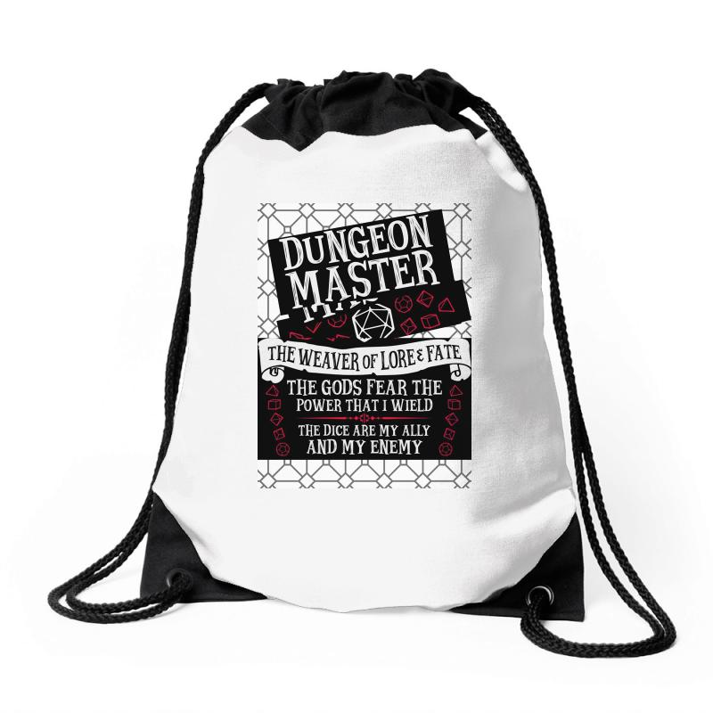 Dungeon Master, The Weaver Of Lore & Fate Drawstring Bags | Artistshot