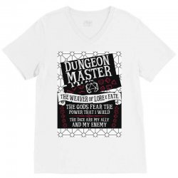 Dungeon Master, The Weaver of Lore & Fate V-Neck Tee | Artistshot