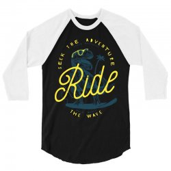 Seek The Adventure Chase Mavericks Ride Palm Beach The Wave 3/4 Sleeve Shirt | Artistshot