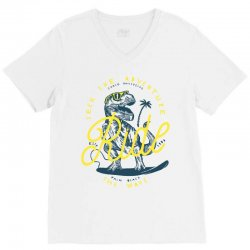 Seek The Adventure Chase Mavericks Ride Palm Beach The Wave V-Neck Tee | Artistshot