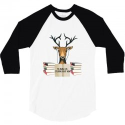 Yes Mama I Am Studying Right Now, Deer 3/4 Sleeve Shirt | Artistshot