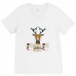 Yes Mama I Am Studying Right Now, Deer V-Neck Tee | Artistshot