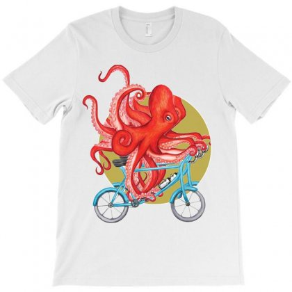 Cycling Octopus T-shirt Designed By Bettercallsaul