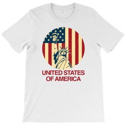 United States Of America T-shirt Designed By Hasret