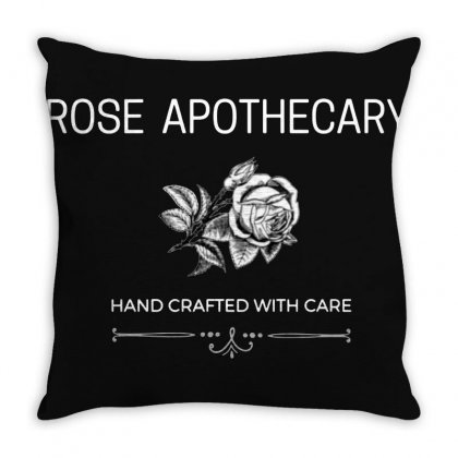 Rose Apothecary Logo Throw Pillow Designed By Willo