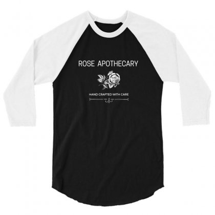 Rose Apothecary Logo 3/4 Sleeve Shirt Designed By Willo