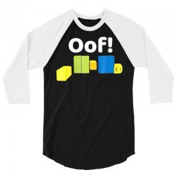 oof! funny blox noob gamer t  shirt gifts for gamers 3/4 Sleeve Shirt | Artistshot