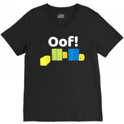 oof! funny blox noob gamer t  shirt gifts for gamers V-Neck Tee | Artistshot