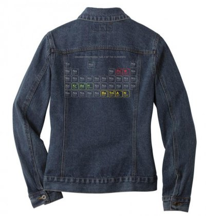 Periodic Table Of Chemical Elements Ladies Denim Jacket Designed By Anrora