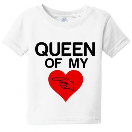 Queen Of My Heart Matching Couple Baby Tee Designed By Perfect Designers