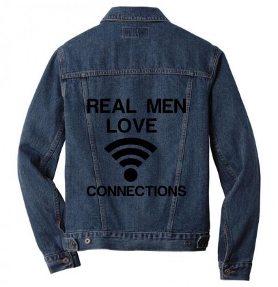 Real Men Love Connections Men Denim Jacket Designed By Perfect Designers