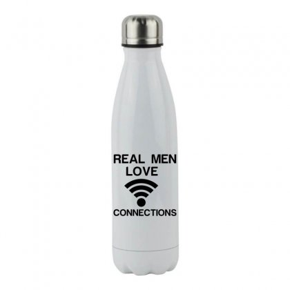Real Men Love Connections Stainless Steel Water Bottle Designed By Perfect Designers