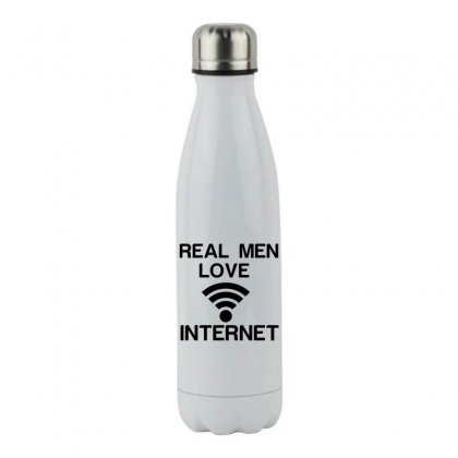 Real Men Love Internet Stainless Steel Water Bottle Designed By Perfect Designers