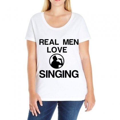Real Men Love Singing Ladies Curvy T-shirt Designed By Perfect Designers