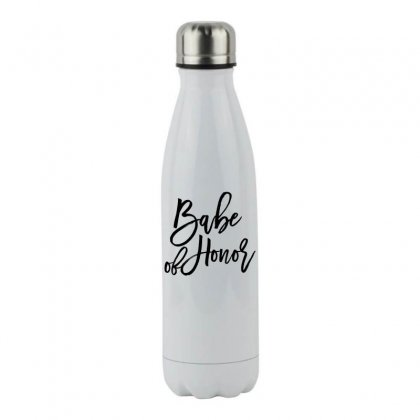 Babe Of Honor Stainless Steel Water Bottle Designed By Toweroflandrose