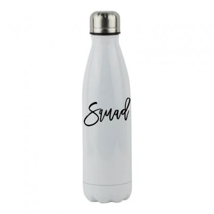 Squad Stainless Steel Water Bottle Designed By Toweroflandrose