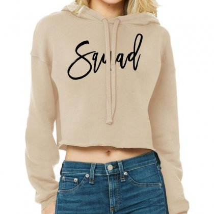 Squad Cropped Hoodie Designed By Toweroflandrose