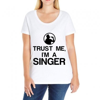 Trust Me, I'm A Singer Ladies Curvy T-shirt Designed By Perfect Designers