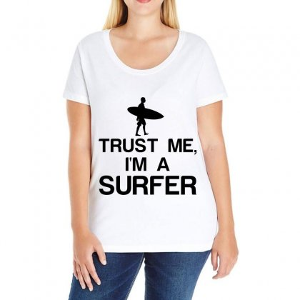 Trust Me, I'm A Surfer Ladies Curvy T-shirt Designed By Perfect Designers