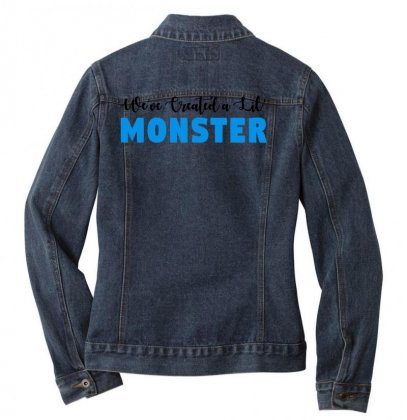 We've Created A Lil' Family Matching Adult Ladies Denim Jacket Designed By Toweroflandrose