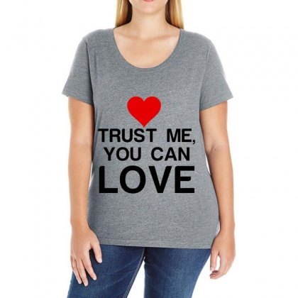 Trust Me, You Can Love Ladies Curvy T-shirt Designed By Perfect Designers