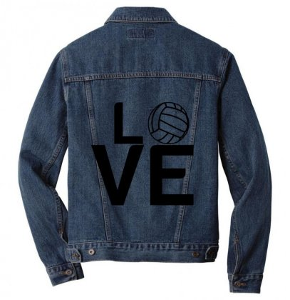 Volleyball Love Men Denim Jacket Designed By Perfect Designers