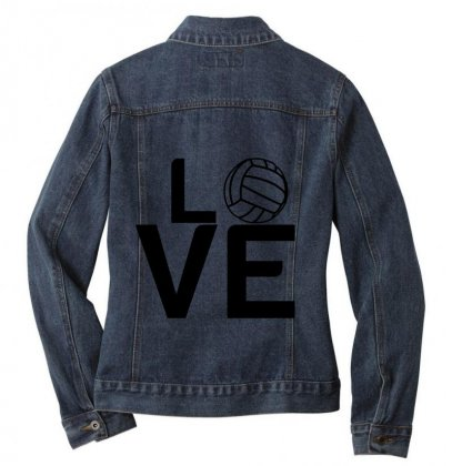 Volleyball Love Ladies Denim Jacket Designed By Perfect Designers