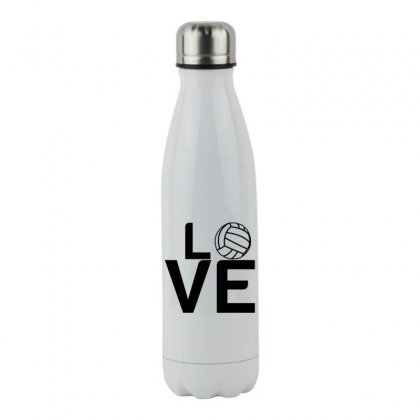 Volleyball Love Stainless Steel Water Bottle Designed By Perfect Designers