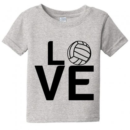 Volleyball Love Baby Tee Designed By Perfect Designers