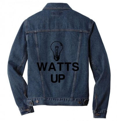 Watts Up Light Bulb Men Denim Jacket Designed By Perfect Designers