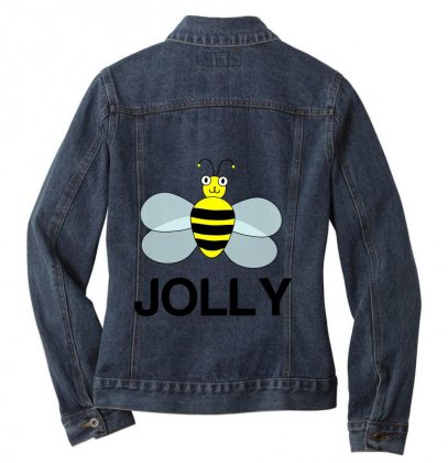 Be Jolly Ladies Denim Jacket Designed By Perfect Designers