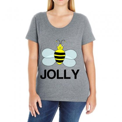 Be Jolly Ladies Curvy T-shirt Designed By Perfect Designers