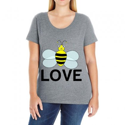 Be Love Ladies Curvy T-shirt Designed By Perfect Designers