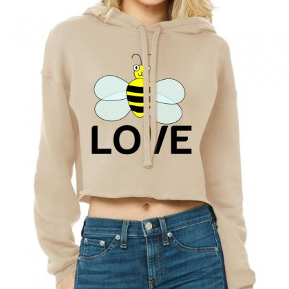Be Love Cropped Hoodie Designed By Perfect Designers