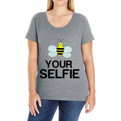 Be Your Selfie Ladies Curvy T-shirt Designed By Perfect Designers