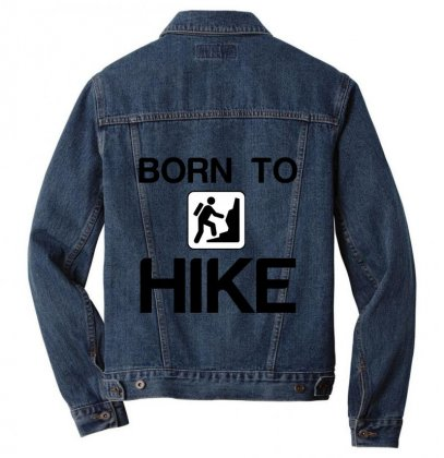 Born To Hike Men Denim Jacket Designed By Perfect Designers