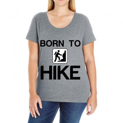 Born To Hike Ladies Curvy T-shirt Designed By Perfect Designers