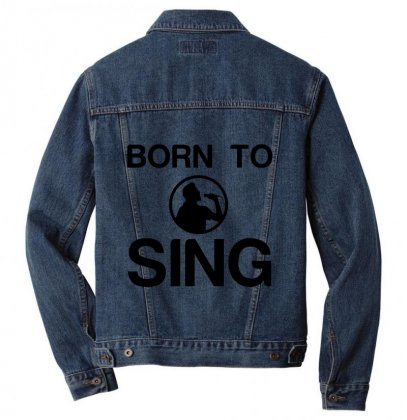 Born To Sing Men Denim Jacket Designed By Perfect Designers