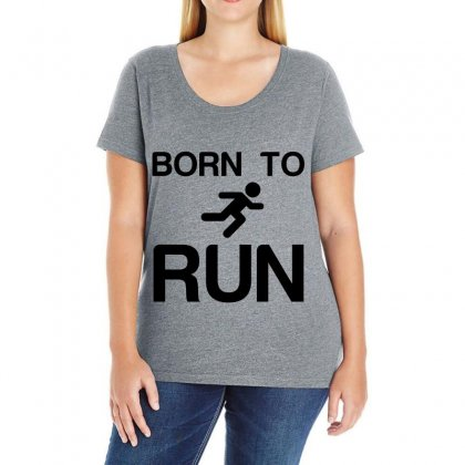 Born To Run Ladies Curvy T-shirt Designed By Perfect Designers