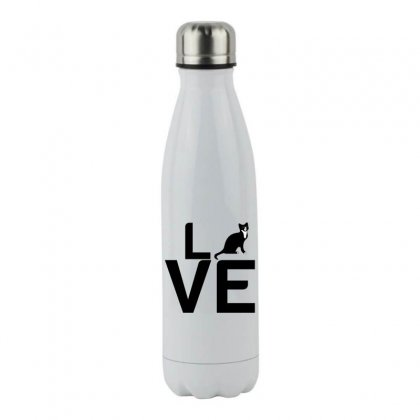Cat Love Stainless Steel Water Bottle Designed By Perfect Designers